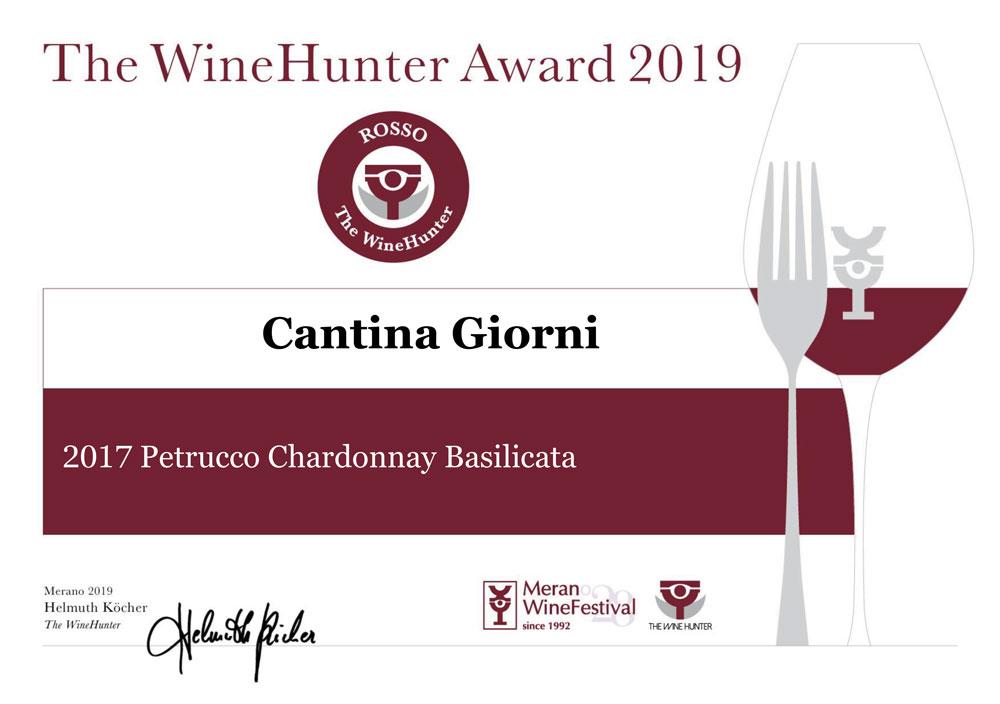 The WineHunter Award 2019 premia il nostro Petrucco 2017